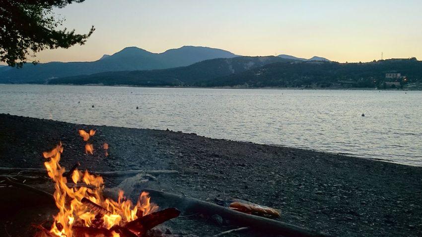 Mountain Flame Nature Mountain Range Sunset Lake Dinner Tree Campinglife