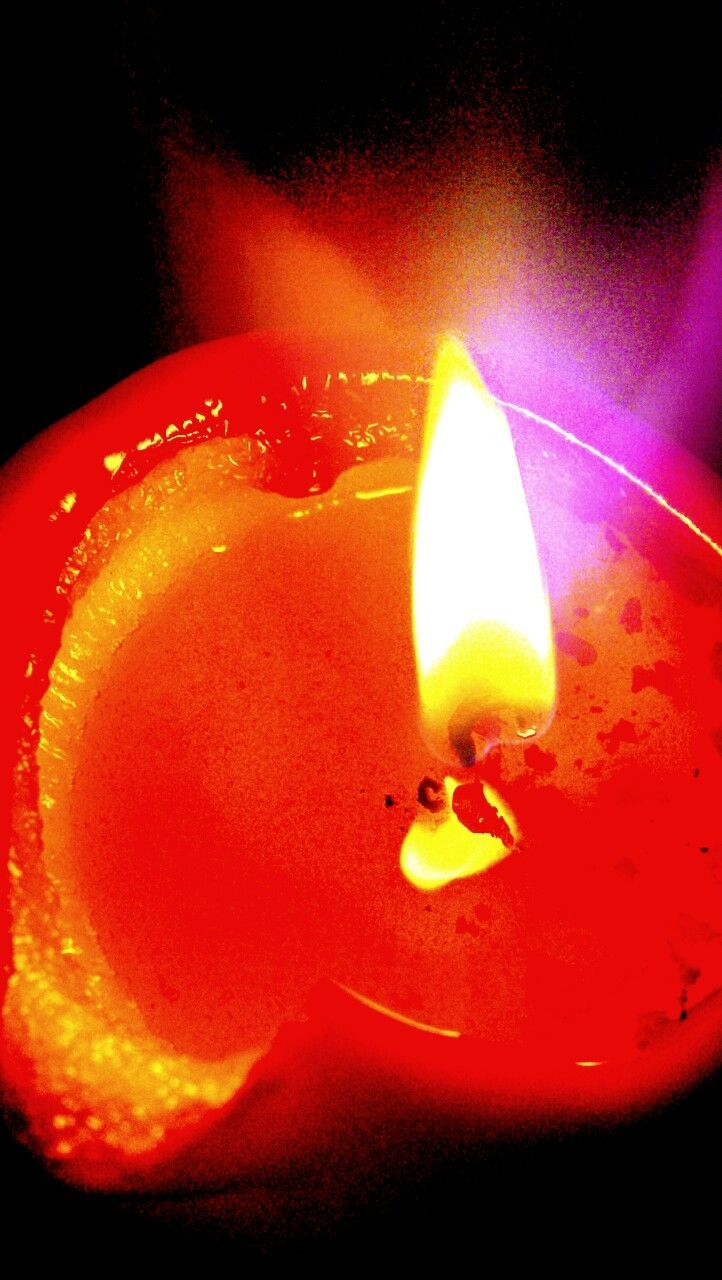 flame, burning, candle, heat - temperature, no people, glowing, illuminated, lighting equipment, close-up, melting, studio shot, yellow, indoors, black background, diya - oil lamp, night