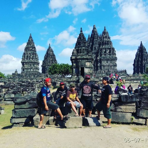 prambanan temple Travel Destinations Architecture Sky Cloud - Sky History Building Exterior Day Built Structure Outdoors People Adult Ancient Civilization Adults Only Only Men