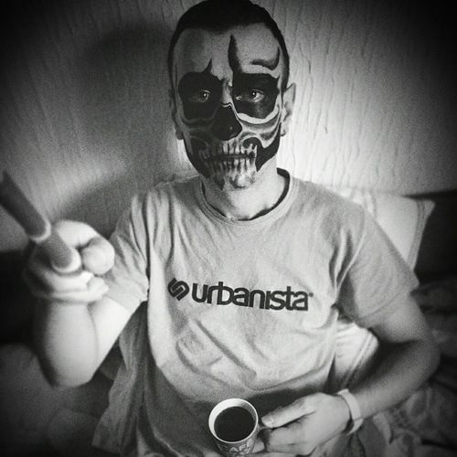 Zombie Zombies  ZombieArt Zombieboy Zombie Makeup Zombie Boy Zombie Time Morning Morning Coffee Bedtime Blackandwhite Black And White Photography Black And White