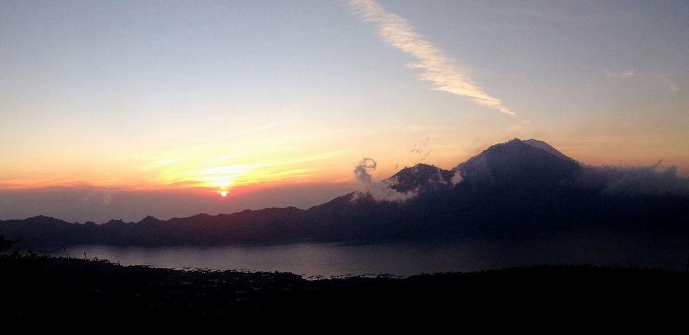 Mount Batur Bali Morning Light Sunrise Volcano
