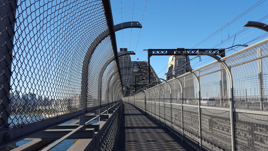Sydney Harbour Bridge Cycleway looking north (in the Southern Hemisphere Spring 2016)
