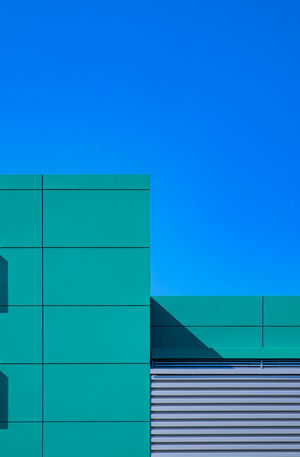 Buildingpart Berlin Photography Architectural Column Architectural Feature Architecture Berlinmalism Blue Building Building Exterior Built Structure Copy Space Fujix_berlin Fujixe3 Fujixseries Minimalism Minimalist Photography  Minimalistic Minimalobsession No People Pattern Ralfpollack_fotografie Sky Turquoise Colored Wall - Building Feature