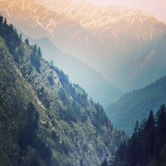 3 of these mountains , we trekked . Parvativalley Rasol Himachal Wanderlust Mountains Nature InstaTravel