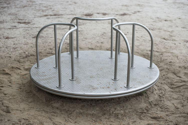 Empty merry-go-round at playground