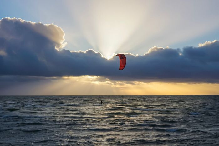 Kiteboarding Sunset Insel Rügen Rügen Mecklenburg-Vorpommern Sports Photography Watersports Kitesurf Germany Kleinzicker Proboarding Nature Baltic Sea Ostsee Ostseeküste Deutschland Thiessow Rügen Lovers