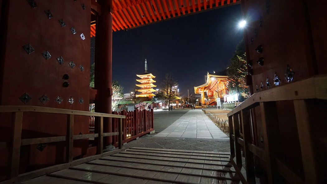 浅草 Asakusa Tokyo Sensouji Japan Tokyo Night Temple