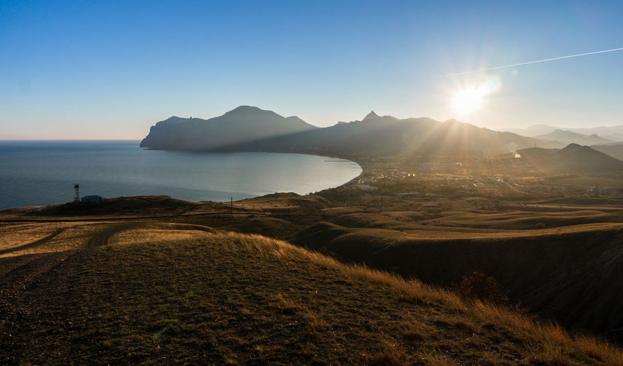 Bay Landscape Autumn Nature Sky Evening Light Mountain Mountains Sunset Sea Blue Sky Sun Hills Hill EyeEmNewHere