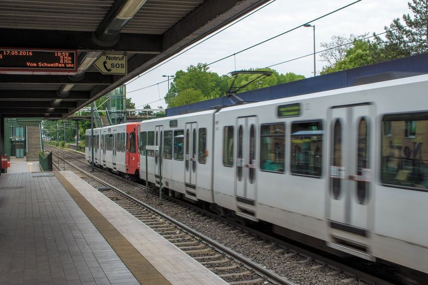 How to get around in Cologne Transportation Train - Vehicle Public Transportation Mode Of Transport Railroad Track Rail Transportation Mobility In Mega Cities Railroad Station Platform Railroad Station Journey Arrival City Tree Day Subway Train Outdoors People Sky Colour Your Horizn