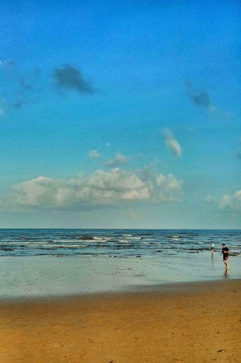 Beach Sand Sea Horizon Over Water Sky Nature Beauty In Nature Blue Wave Outdoors The Morning Run Clouds Over The Sea EyeEm Diversity Colour Your Horizn
