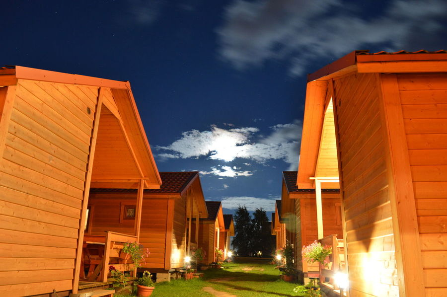 Night Built Structure House Sky No People Noc niebo nocą