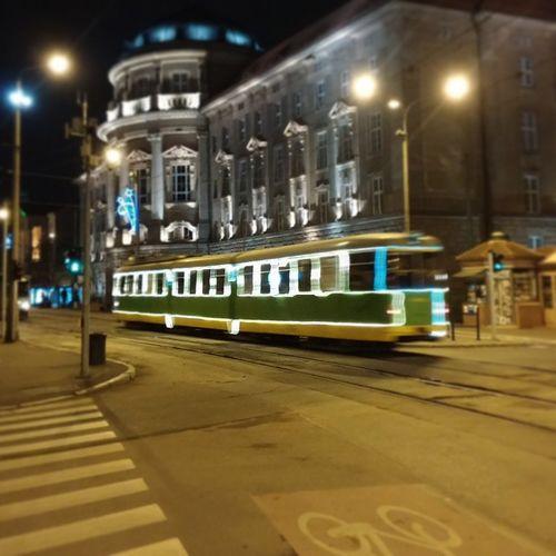 Christmas Tram in Poznan! Oldmarket Oldtown Architecture ChristmasTram tram lights publictransport urban street City igerspoznan instagood Poznan Poland