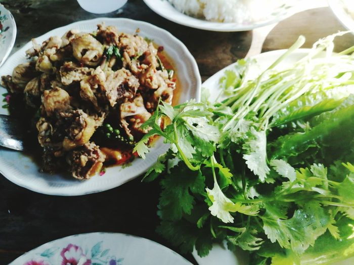 Thai food Plant Vegetable Food Green Color Spicy Food Culture Comfort Food Plate Homemade Close-up Food And Drink Curry Prepared Food Thai Food Indian Food Dish Thai Culture Garnish Greek Salad