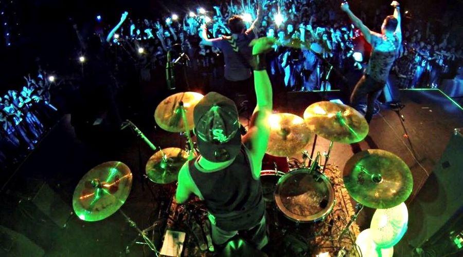 La vista desde mi trono!!!... AvalonRoadShow Drums Dreams Epicselfie