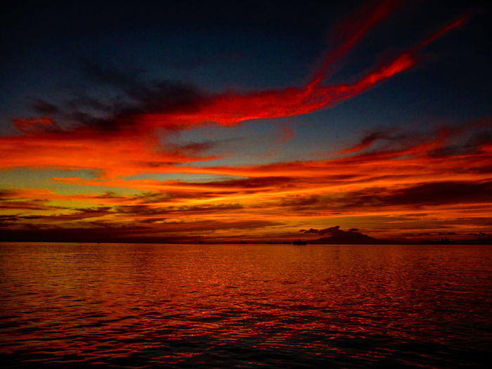 Manila Bay Sunset Photography Glowing Sunlight Sun Sunset Multi Colored Sea Scenics Nautical Vessel No People Beauty In Nature Nature Water Sky Outdoors Day Vacations Horizon Over Water