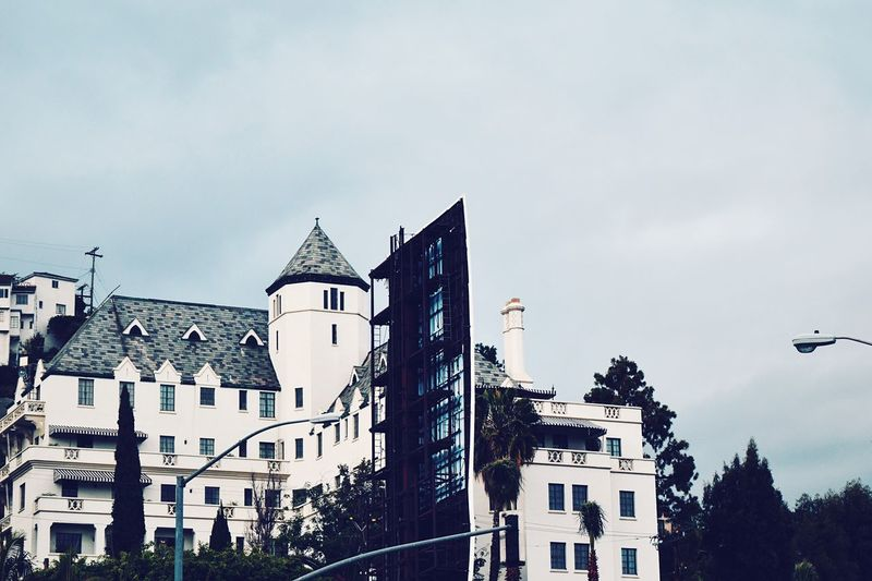 Chateau Marmont Hotel Infamous Old Hollywood Vintage Paparazzi Celebrities Architecture Building Hillside Hollywood Hills Sunset Blvd.