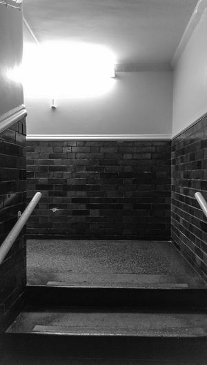 Stairway Brickwork  Concrete Floor Concrete Steps Black & White Bright Light Crisp And Clean Blacj And White Blackandwhite