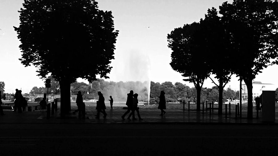 People in park