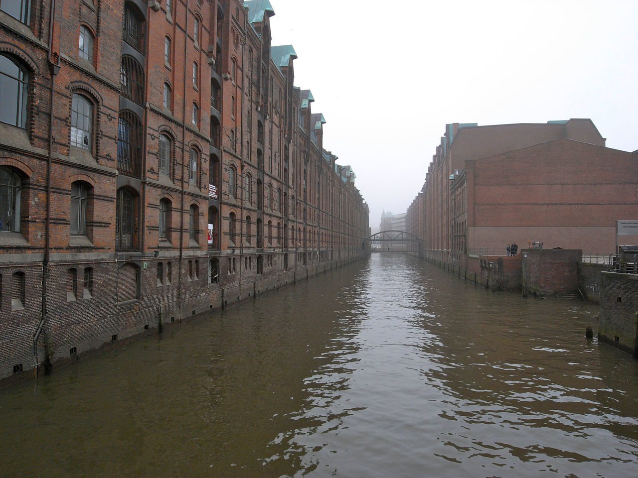Old buildings on the bank of canal