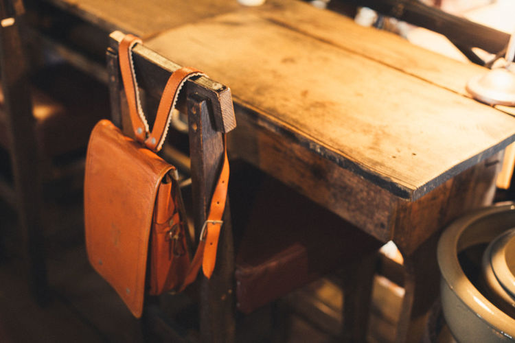 Close Up Of Backpack In Classroom