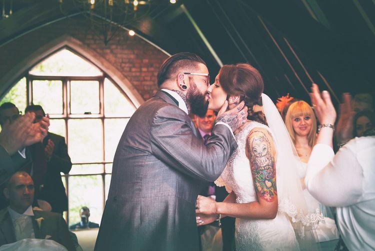 A Wedding Photography Wedding Brideandgroom Kiss Tattoos Weddings Around The World Ireland