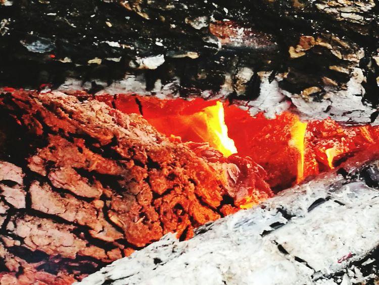Fire Ogień Zar Ognisko Ogniskowe Plener Jezioro Lod Zima