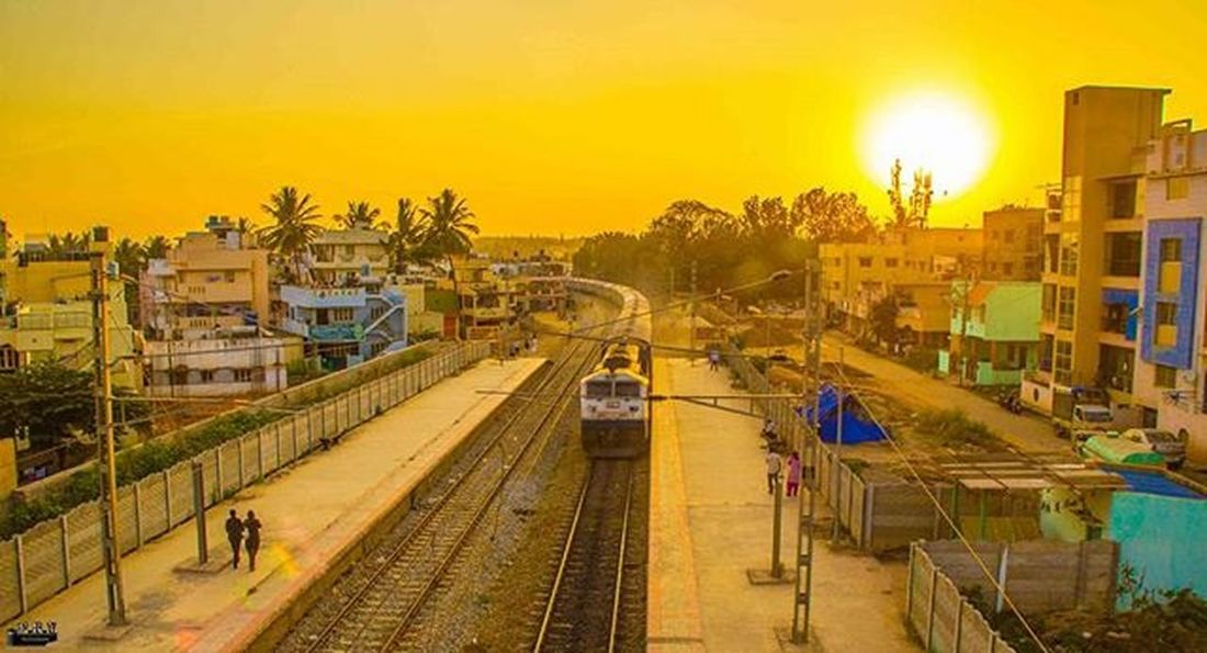 "The ever running Indian Railways "" Sunrise Indian Railways Prvphotography"