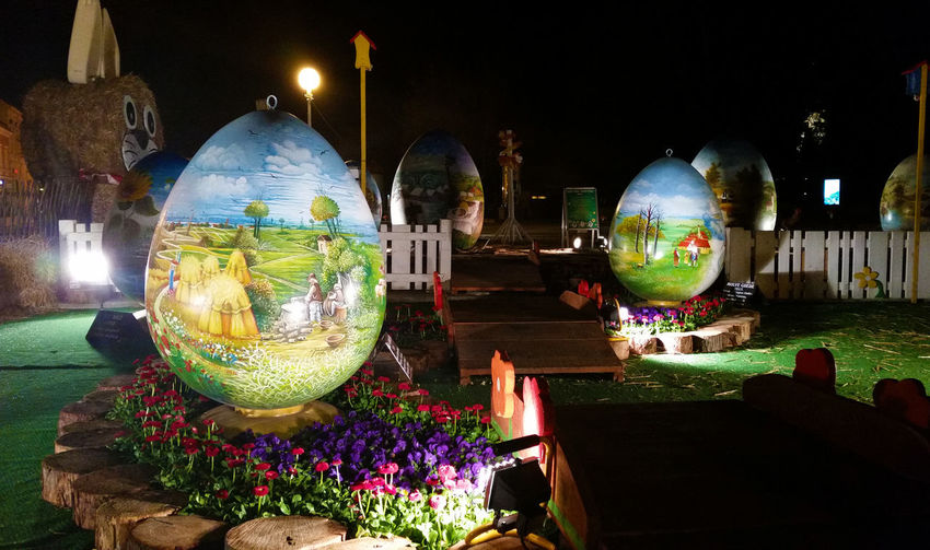 The Tourist Board of Koprivnica and Križevci County in Croatia has traditionally organised a unique outdoor exhibition of large decorated Easter eggs called 'Pisanica od srca' (Easter egg from the heart) over the Easter period. The exhibition this year will be held on Zrinski Square in Koprivnica. Bunny  Decoration Easter Easter Eggs Easter Eggs On Square Easter Eggs Village Easter Time  Giant Easter Eggs Naiva Outdoor Exhibition Painted Easter Egg Painted Eggs Pisanice Tradition