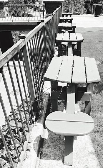 Upclose Street Photography Upclosestreetphotography IPhoneography Streetphotography Bricktown OKC Bricktown Downtown OKC Picnic Table Tables Outdoor Eating Empty Empty Places Empty Seats Oklahoma Black And White Photography Black And White Blackandwhite Photography Downtown Oklahoma City Street Photography Restaurants Outdoor