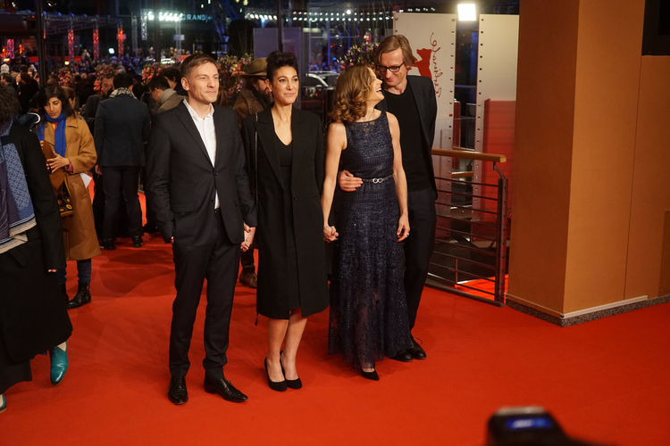 Berlin, Germany - February 24, 2018: Emily Atef, Marie Baeumer and Karsten Stoeter attend the closing ceremony during the 68th Berlinale International Film Festival Berlin at Berlinale Palast 3 Days In Quiberon 68th Berlinale Emily Atef Emily Atef Film Festival Karsten Stoeter Karsten Stöter Marie Baeumer Marie Bäumer Arts Culture And Entertainment Berlinale Berlinale 2018 Berlinale Festival Berlinale2018 Berlinale68 Entertainment Entertainment Event Film Festivals Red Carpet Red Carpet Event