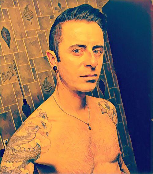 Gay Gayboy Tattoo Tattooed Tattoos Piercedmen Piercing Pierced Gays