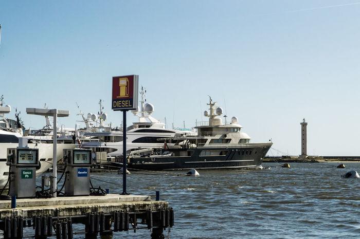 Boats Dock Fuel Oil Petrol Petrol Station Sea Yachts