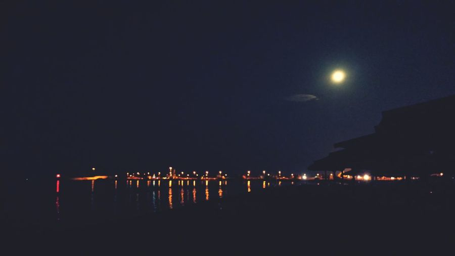 Pescara Relaxing Night View Full Moon Sea And Sky First Eyeem Photo
