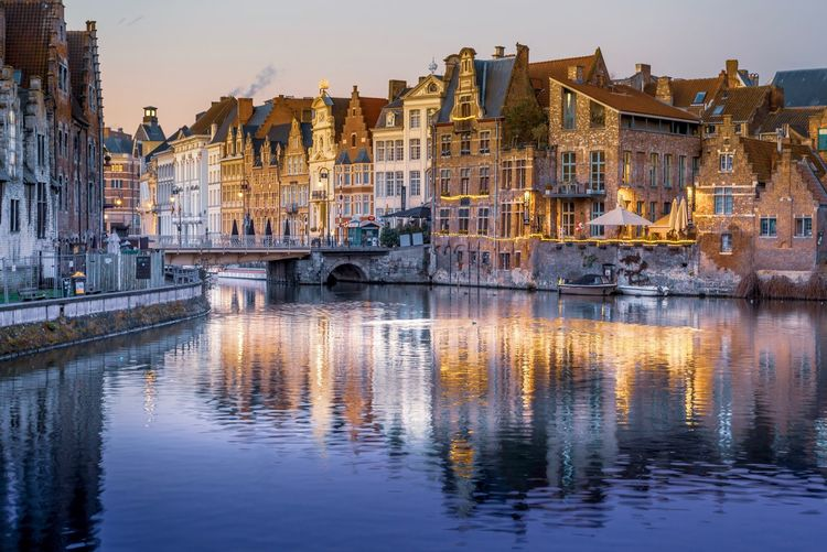 Gent - Belgian beauty Gent Belgium♡ Water Reflection Built Structure Architecture Waterfront Building Exterior Sky Building Nature City Residential District No People River Transportation Bridge Connection Nautical Vessel Bridge - Man Made Structure Outdoors