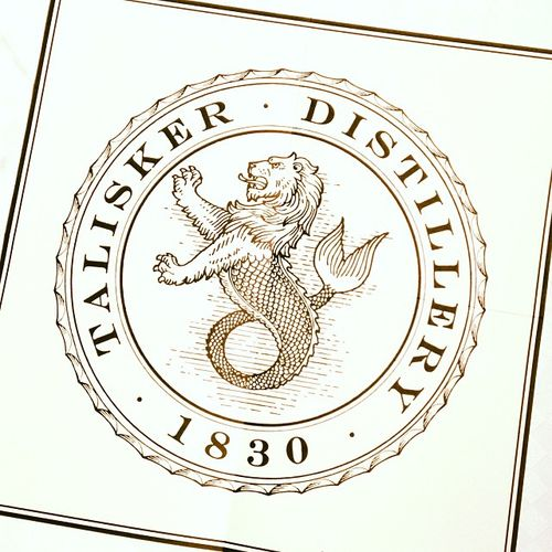 Talisker Distillery since 1830 Promotion Werbung Scotland Whisky Advertising Skye Scotch Logo Distillery Talisker Schottland Singlemalt 1830 Destillerie
