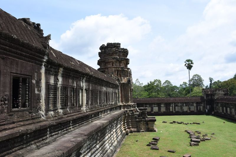 Visiting temples. Angkor Wat Temple Tourist Attraction  Tourism Destination Travel Destinations Traveling Visiting Sunny Day ASIA Angkor Cambodia Siemreap Grass Nature Landmark Monument History Historic Neighborhood Map