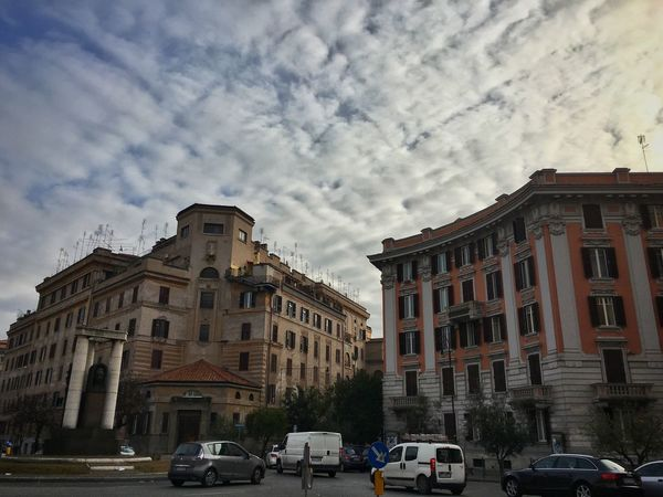 Cloudporn Clouds Streetphoto_color Streetphotography Clouds And Sky Day Moving Around Rome Car Architecture Cloud - Sky Built Structure Building Exterior Mode Of Transport Land Vehicle Sky Transportation Outdoors City No People