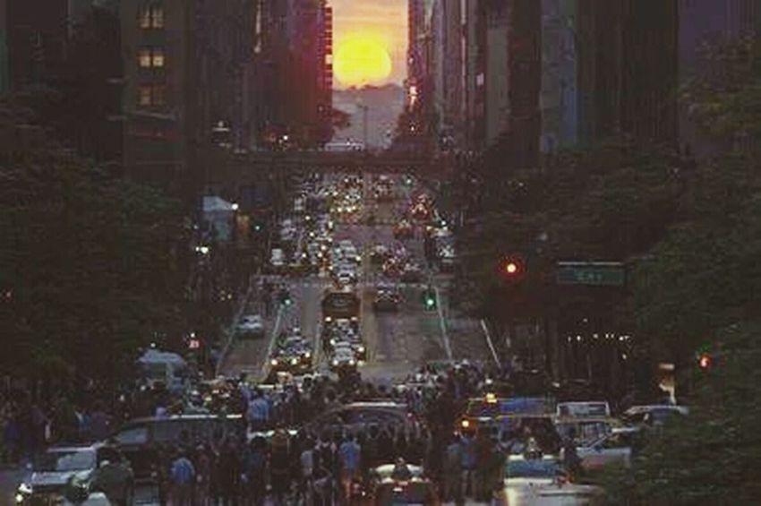 NYC sunset ....