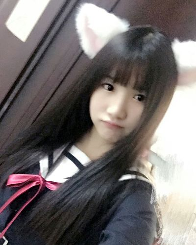 Selfie Private Photos Lovely Girl Good Night Student Goodnight World.... Before Sleep 制服 おやすみなさい✨ こんにちは 可愛い♡ Enjoy Life