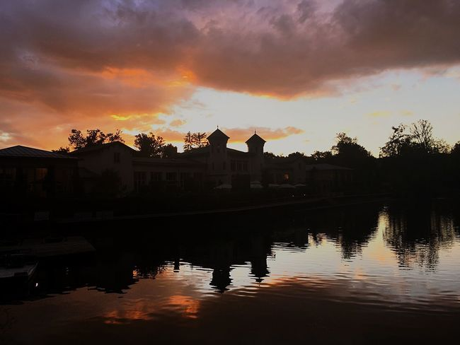 Sunset Built Structure Sky Building Exterior Silhouette Architecture EyeEm Ready   Cloud - Sky Reflection Water Waterfront Outdoors Travel Destinations Nature City