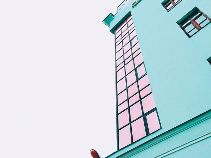 Just a colorful building Color Colors Building Green Mint Mint Green Minimalism Pink Colorful Followme Follow Followers Likes