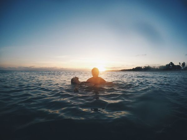 No place I'd rather be 💕 Sea Water Horizon Over Water Rear View Sky Real People One Person Nature Leisure Activity Lifestyles Scenics Sitting Sunset Clear Sky Beauty In Nature Young Women Vacations Women Outdoors Young Adult Couple - Relationship