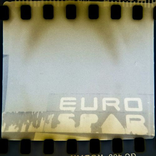 euro.spar! Filmisnotdead Agfamatic 55c Instamatic 35mm Old Camera Caffenol Sign Euro