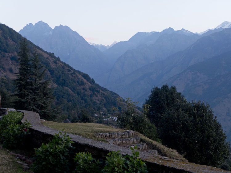 The mountains of Himalayas in Uttarakhand India at dawn Blue Hour Hiking Himalayan Range Himalayas India Wanderlust Beauty In Nature Dawn Dusk Environment Hikingadventures Idyllic Landscape Mountain Mountain Peak Mountain Range Munsyari Outdoors Scenics - Nature Tranquil Scene Tranquility Tree Uttarakhand Valley