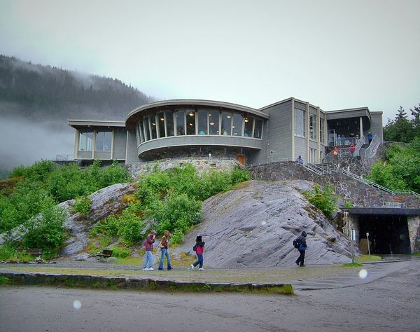 Tourism Unidentifiable People Architecturelovers Alaska Lookout Point Glaciernationalpark Geometric Structures Nature Observationdeck Panoramic Building Seeing The Sights Alaska