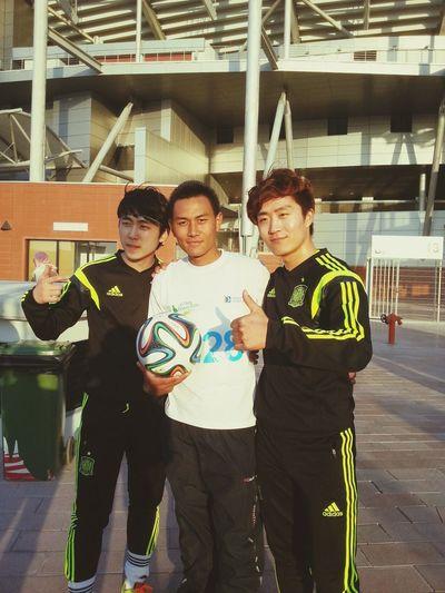 with Korean football champions