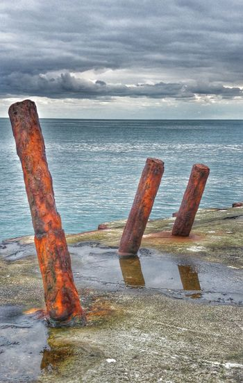 Dean Quarry Water Sea Sea And Sky Water And Sky Rusty Rusty Poles Quay Horizon Over Water Horizon Concrete Rusty Things Rusty Iron Rust