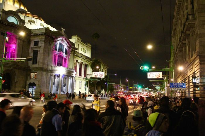 Arquitecture City City Life Mexican Colors Mexico Mexico City Night Nigth Ligths Nigthpicture Unidentifiable People