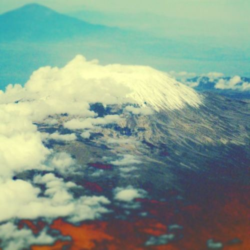 RePicture Travel Looking To The Other Side Kilimanjaro Meru Tanzania Viewfromtheplane Viewfromthetop Mountain Crater