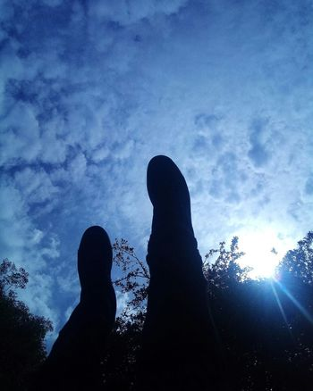 Just a casual walk. Low Angle View Sky Human Body Part Outdoors Clouds Trainers Legs Photography Summer Beauty In Nature Cloud - Sky Freshness Breathing Space